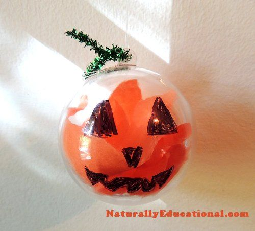 Jack O' Lantern Ornaments for Halloween | Naturally Educational