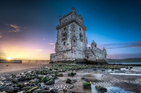 Belem Tower at Sunrise (HDR Lisbon, Portugal)