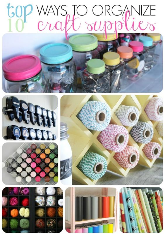 Craft supply organization ideas jars so cute and cute ideas for How to organize craft supplies