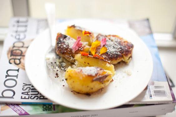 Pan-Fried Smashed Potatoes | Food | Pinterest | Potatoes and Milk
