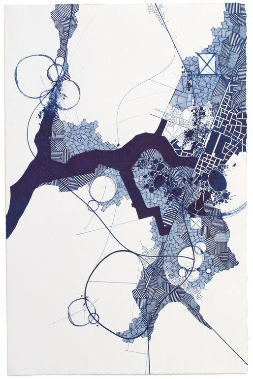 "Saatchi Online Artist: Derek Lerner; Pen and Ink, 2013, Drawing ""Asvirus 38"" #JaimeDerringer"