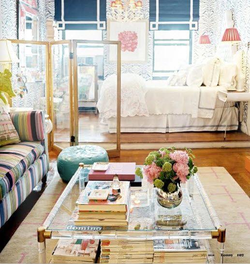 great ideas for a studio apt: Coffee Tables, Studio Apartments, Small Apartment, Living Room, Apartment Idea, Room Design