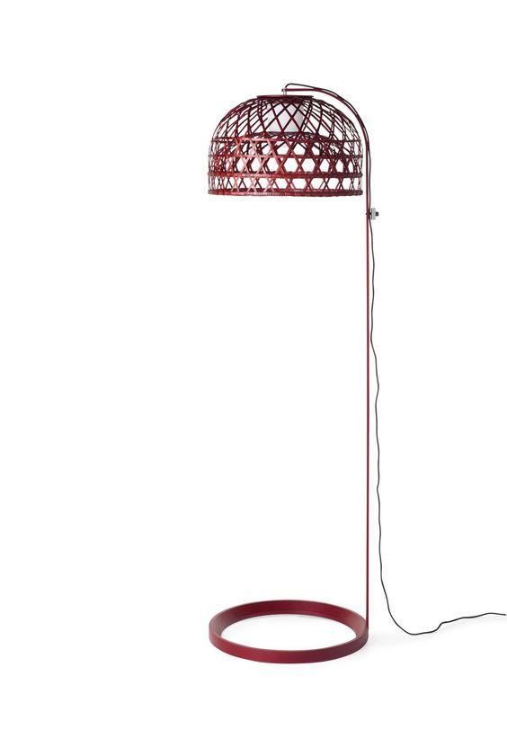 Moooi Emperor Floor Lamp-rot