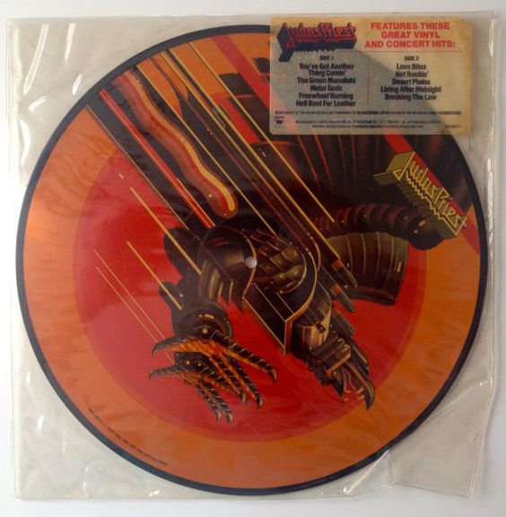 Judas Priest - Picture Disc LP Vinyl Record Album, Columbia - 9C9 39926, Hard Rock, 1984, Original Pressing