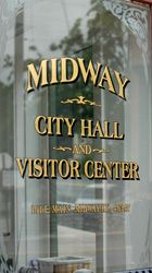 Midway City Hall & Visitor Center on Railroad Street