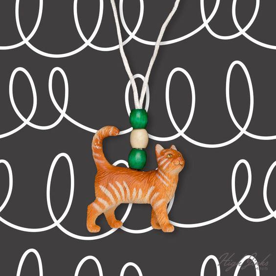 Crookshanks Cat: Kids Necklace by highjinkstees on Etsy