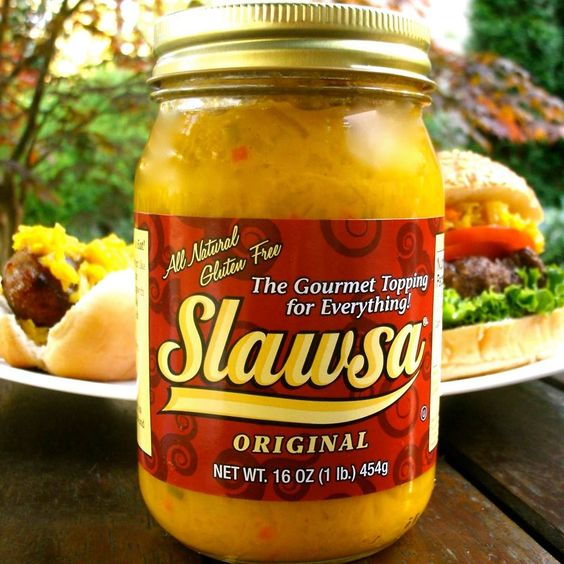 Forget ketchup, mustard, relish and any other boring condiment. #Slawsa is the only thing you need to make your #summer #grilling a smash!