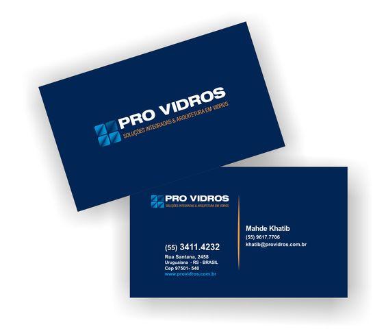 Cartão de visita Pró Vidros
