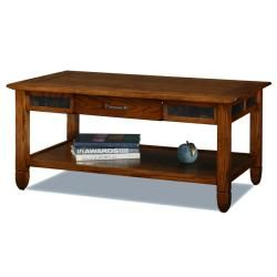 @Overstock - This rustic wood coffee table is made of oak with a solid wood drawer box, veneers, and a hammered pewter drawer pull. The center storage draw sits on fully-extending drawer guides above a shelf perfect for holding your favorite magazines or books.http://www.overstock.com/Home-Garden/Rustic-Oak-Coffee-Table/6483849/product.html?CID=214117 $273.99