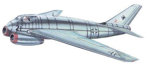 Messerschmitt Me P.1102/5 illustration from Geheimprojekte der Luftwaffe Band III - Schlachtflugzeuge und Kampfzerstörer 1935-1945