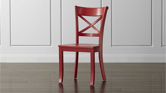 Vintner Red Wood Dining Chair | Crate and Barrel