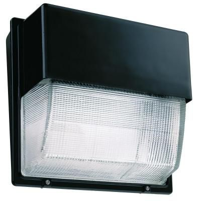 Outdoor Led Pressure Sodium Wall Pack With Glass Lens Bronze Light Fixture Lithonia Lighting Wall Packs