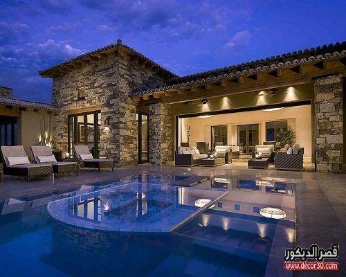 واجهات فلل حديثة في الامارات قصر الديكور Small Luxury Homes Luxury House Designs Spanish House Design