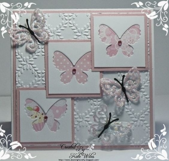 Generic Card made with those gorgeous Wild Rose Studio New Release papers and dies
