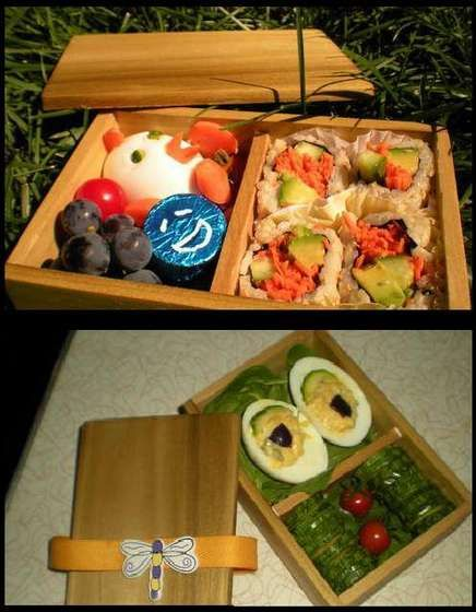 Make your own Bento Box!!... I think I might have to take this idea and expand it for a picnic Bento Box!