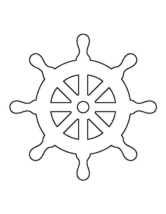 Captains Wheel With Images Stencils Printables Stencils