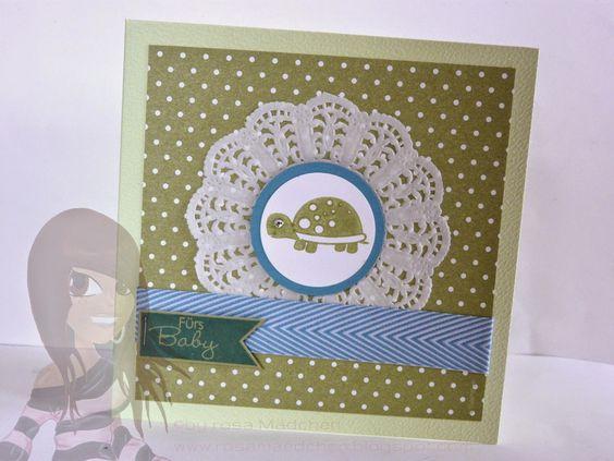 Stampin' Up! - Babykarte - Fox & Friends - Fahnengruß - rosamaedchen.blogspot.de