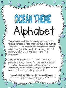 OCEAN THEME JOB CARDS - TeachersPayTeachers.com