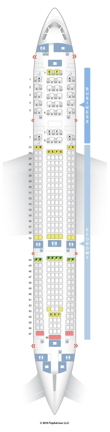 Thomas Cook Airlines Seating Plan Airbus A330 ...