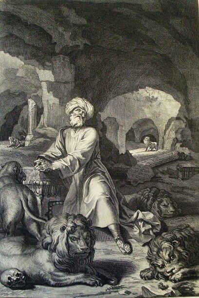177. Daniel in the lion's den. Daniel cap 6 v 17. Picart