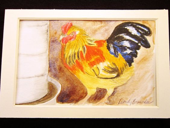 Jules at the Water Fountain Matted Original by TurnaroundRanch, $35.00 CDN