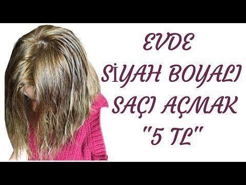 Siyah Boyali Saci Acma Evde Oryal Sac Acici Uygulama Youtube