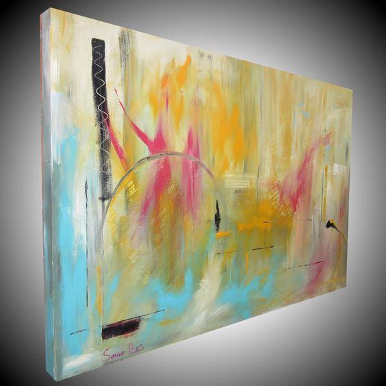Quadro astratto per soggiorno quadri dipinti sauro bos - Quadri per soggiorno ...