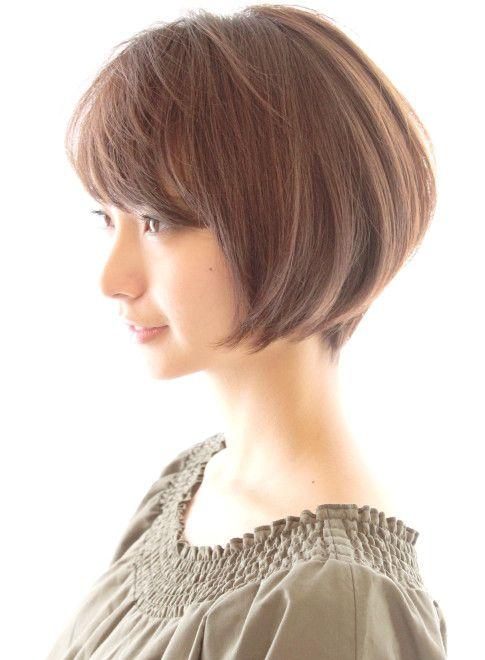 30代40代に人気ひし形ショートボブ 髪型ショートヘア 髪型 ボブ