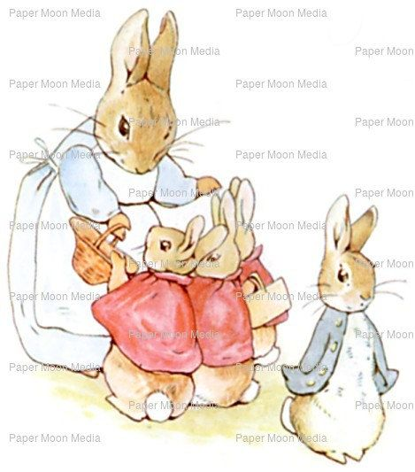 Large Nursery Digital Print From Beatrix Potter Mother by joapan
