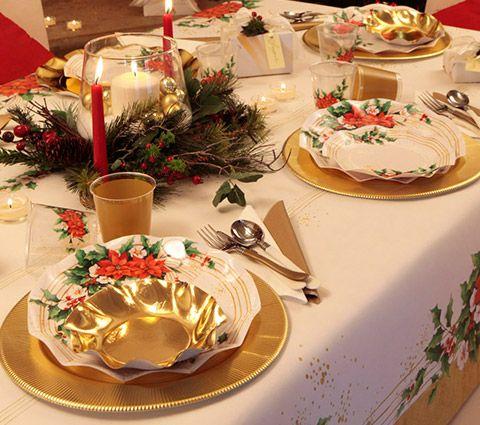 Exclusive trade piatti di carta per natale bicchieri di - Disposizione bicchieri in tavola ...