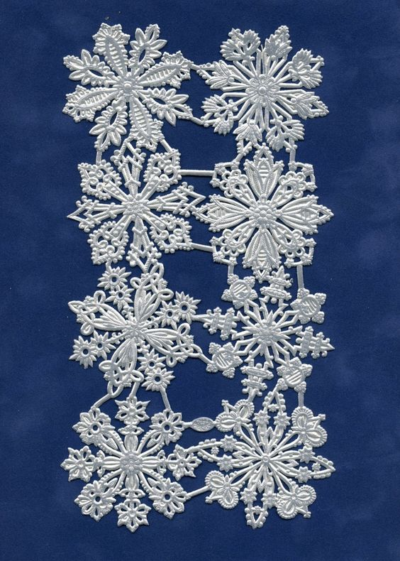 SNOWFLAKE DRESDENS, Dresden Snowflakes, Die Cut Snowflakes, Silver Foil Snowflakes, Silver Paper Snowflakes,  Dresdens by OneDayLongAgo on Etsy
