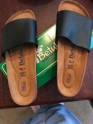 Betula Womens Reggae Black Sandals EUR 42 (AAN) NEW IN BOX