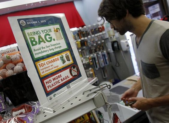 California institutes a statewide plastic bag ban, forcing consumers to purchase packaging which retailers formerly offered for free. While many environmental groups hailed the decision, other activists note that San Francisco's ban had a consequence of 50 percent rise greenhouse gasses as a result of paper bag production.