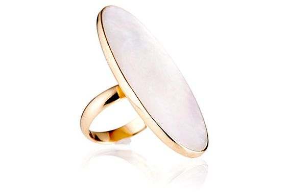 Adjustable Long Oval Pearl Ring on OneKingsLane.com