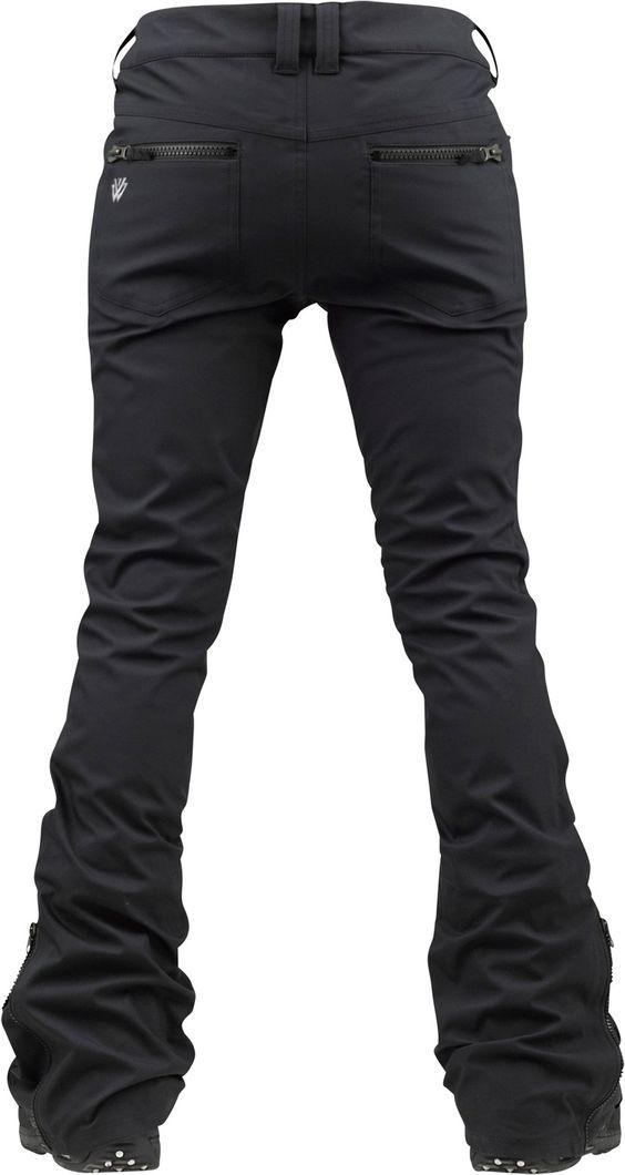Burton TWC Sugartown Snowboard Pants True Black - Women's skinny snow pants are so freakin cool