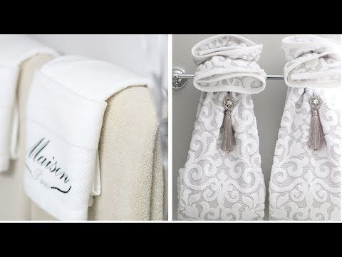 8 Bathroom Decorating Idea Decorative Towel Folding Youtube