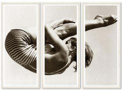 Beautiful framed triptych.