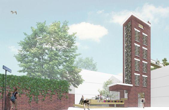 BOEKENTOREN // 2012 // Leiden // Ontwerpburo MULLER & ATELIER jv // Ontwerp voor herbestemming van een oude slangentoren naar een Boekentoren met Leestuin.