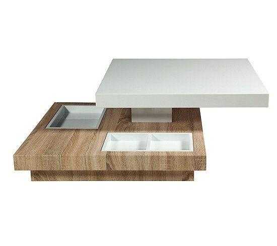 Table Basse Pivotante Turn Imitation Chene Et Blanc Laque Table Basse But En 2020 Table Basse Table Table Basse Blanche