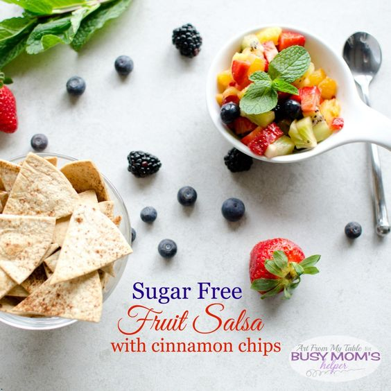 sugar free fruit salsa with cinnamon chips - Busy Mom's Helper