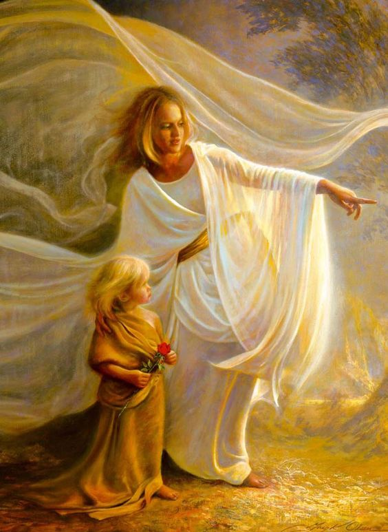 I have always loved this pictures.....how often are we a servant to an angel of mercy sent by God?