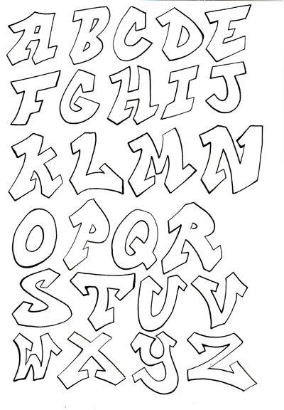 Graffiti Buchstaben Alphabet Graffitti Schriftzge Lettering