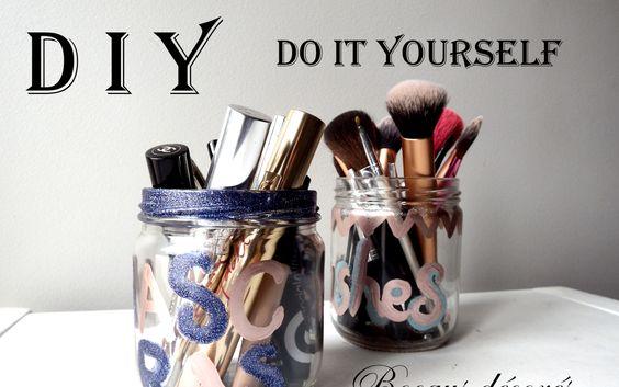 #easy # DIY #makeup #jars : Easiest diy ever! Jars for #brushes #pencils #mascaras