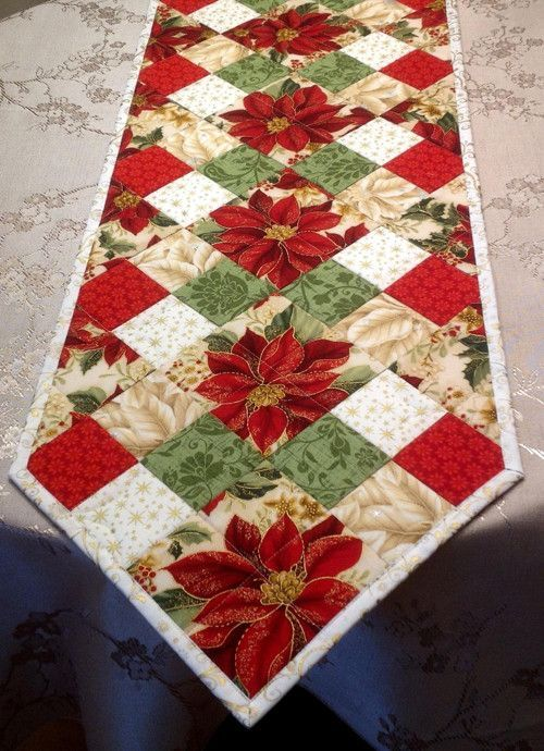Yuletide Table Runner Sew Along PATTERN simple pieced Christmas PATTERN