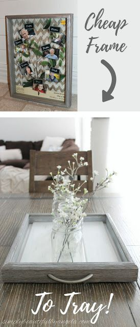 Simply Beautiful by Angela: How to Make a Tray from a Shadow Box Frame