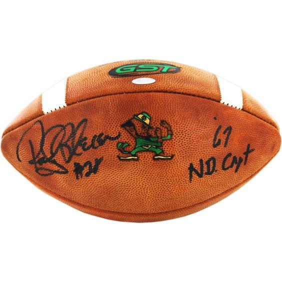 Rocky Bleier Signed Notre Dame Game Model Football w/ '67 ND Capt' insc