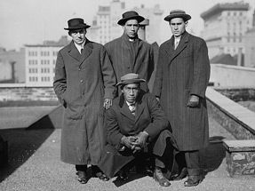 A legend in the making, a young Duke Kahanamoku poses for a photo on the East Coast. Photo: Library of Congress