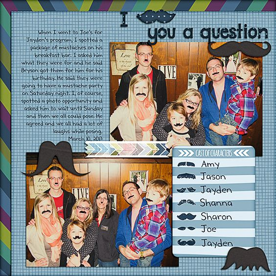I Mustache You a Question, Project Life--Rain Edition by Becky Higgins (!), April, 2103