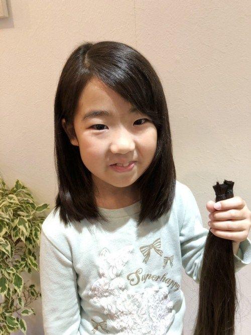 七五三後のカットするなら 髪の毛を寄付して子供のウィッグ作りません