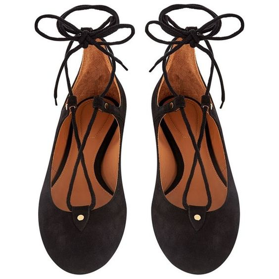 Chloé Foster Lace-Up Ballet Flat ($475) ❤ liked on Polyvore featuring shoes, flats, ballet pumps, ballet shoes, ankle strap flats, lace up flats and lace up ballet shoes